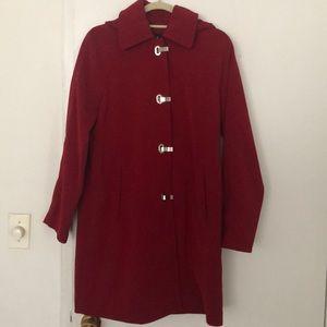 London Fog Rain Raincoat w/ removable hood